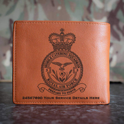 RAF 3 Mobile Catering Squadron Leather Wallet