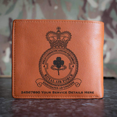 RAF 4 Field Communications Squadron Leather Wallet