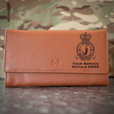 RAF 8 Squadron Leather Purse