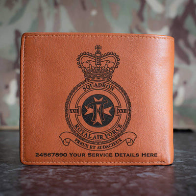 RAF 22 Squadron Leather Wallet