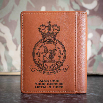 RAF 28 Squadron Credit Card Wallet