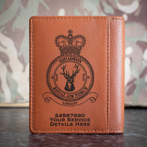 RAF 33 Squadron Credit Card Wallet