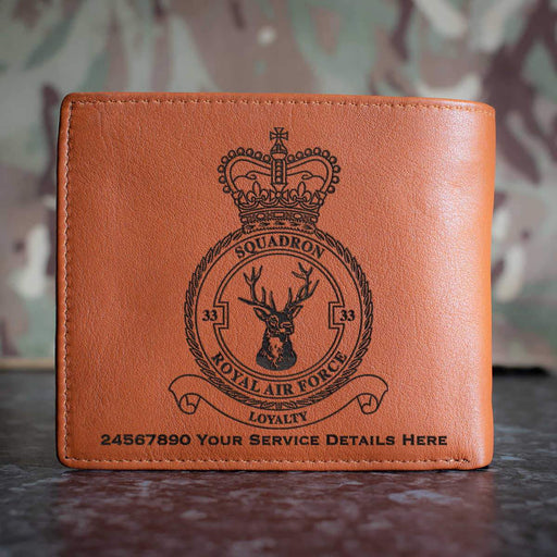 RAF 33 Squadron Leather Wallet
