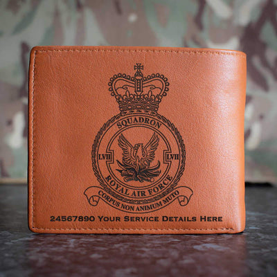 RAF 57 Squadron Leather Wallet