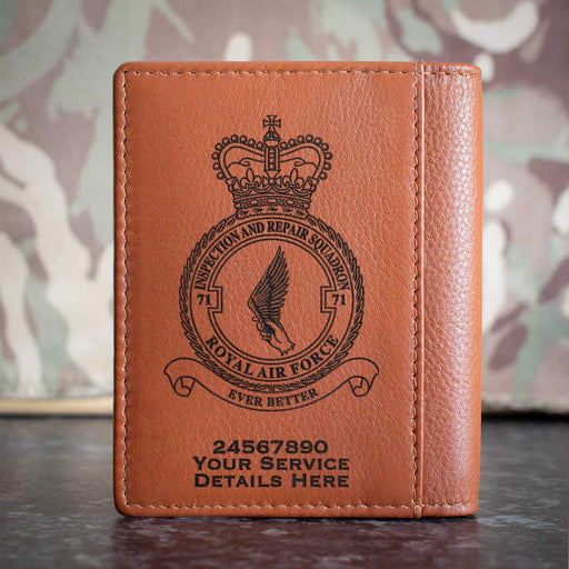RAF 71 Squadron Credit Card Wallet