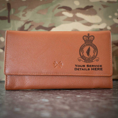 RAF 71 Squadron Leather Purse