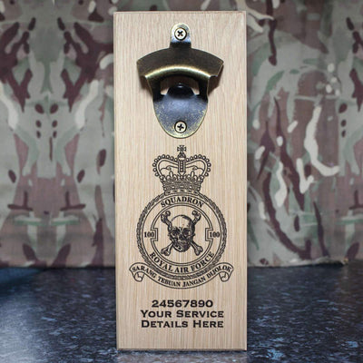 RAF 100 Squadron Wall-Mounted Bottle Opener