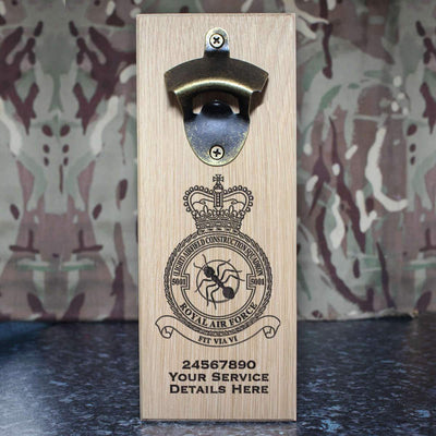 RAF 5001 (Light) Airfield Construction Squadron Wall-Mounted Bottle Opener