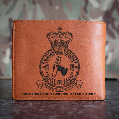 RAF 5131 Bomb Disposal Squadron Leather Wallet