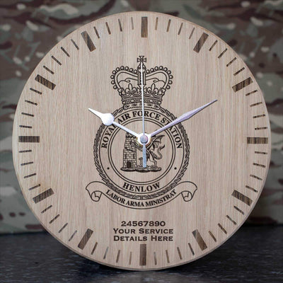 RAF Station Henlow Oak Clock