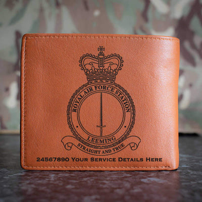 RAF Station Leeming Leather Wallet