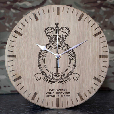 RAF Station Leeming Oak Clock