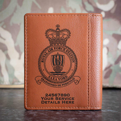 RAF Station Saxa Vord Credit Card Wallet