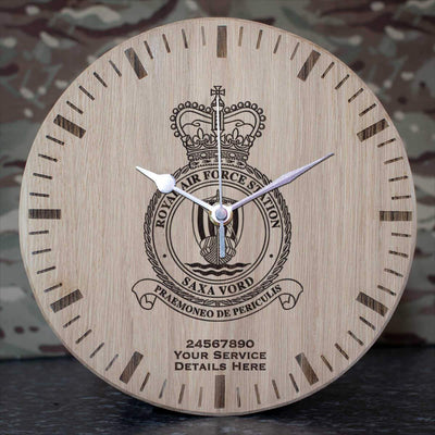 RAF Station Saxa Vord Oak Clock