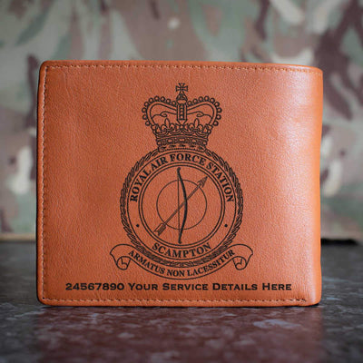 RAF Station Scampton Leather Wallet
