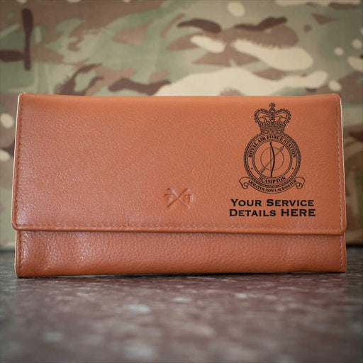 RAF Station Scampton Leather Purse