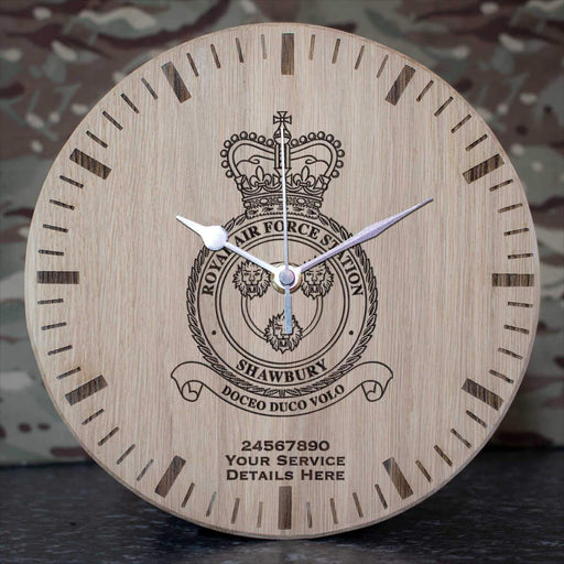 RAF Station Shawbury Oak Clock