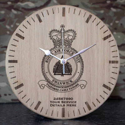 RAF Unit Swanwick Oak Clock