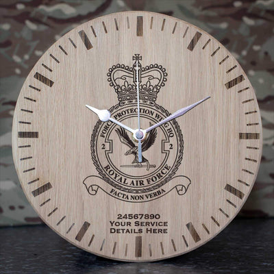 RAF 2 Force Protection Wing HQ Oak Clock