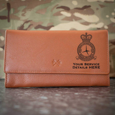RAF 5 Force Protection Wing Headquarters Leather Purse