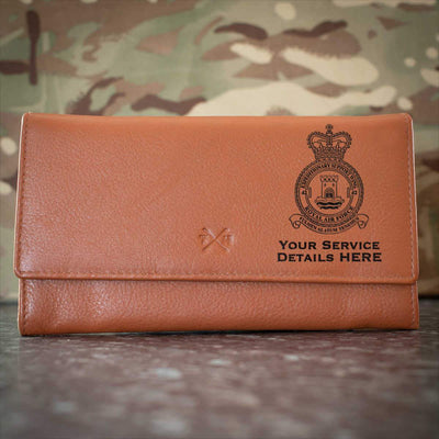 RAF 42 Expeditionary Support Wing Leather Purse
