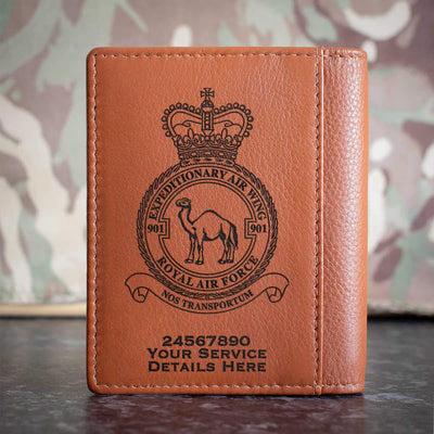 RAF 901 Expeditionary Air Wing Credit Card Wallet
