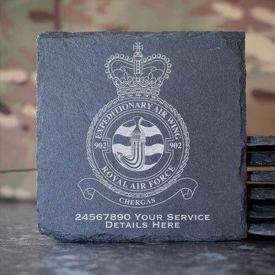 RAF 902 Expeditionary Air Wing Slate Coaster