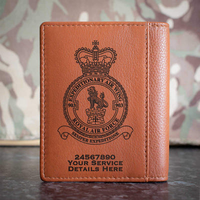 RAF 903 Expeditionary Air Wing Credit Card Wallet