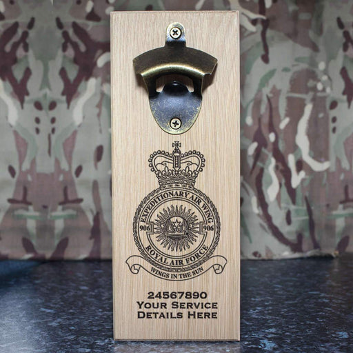 RAF 906 Expeditionary Air Wing Wall-Mounted Bottle Opener