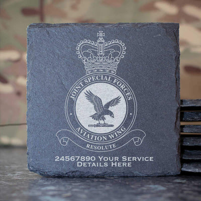 RAF Joint Special Forces Aviation Wing Slate Coaster
