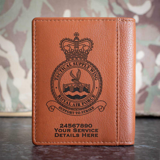 RAF Tactical Supply Wing Credit Card Wallet