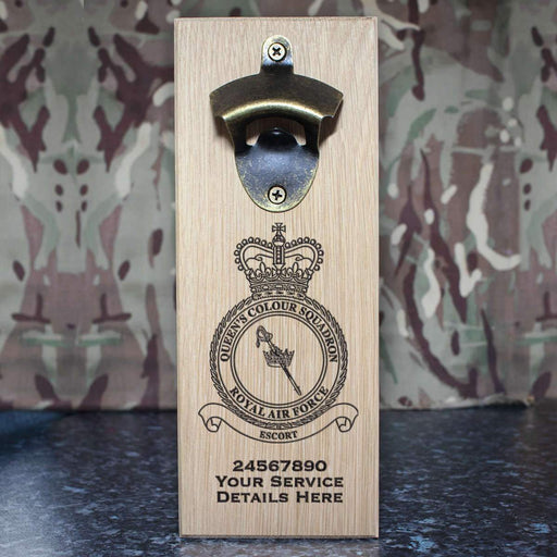 RAF Queen's Colour Squadron Wall-Mounted Bottle Opener
