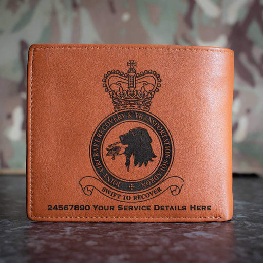 RAF Joint Aircraft Recovery and Transportation Squadron Leather Wallet