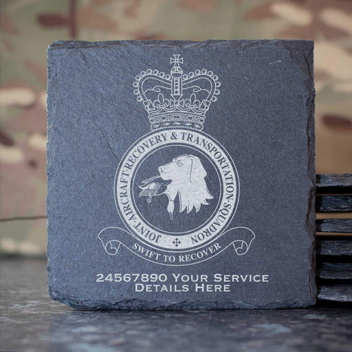 RAF Joint Aircraft Recovery and Transportation Squadron Slate Coaster