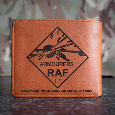 RAF Armourers Leather Wallet