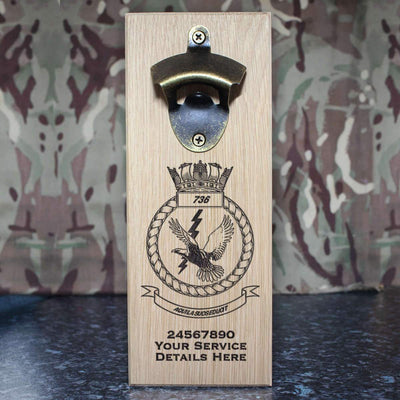 736 Naval Air Squadron Wall-Mounted Bottle Opener
