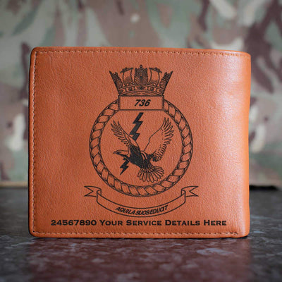 736 Naval Air Squadron Leather Wallet