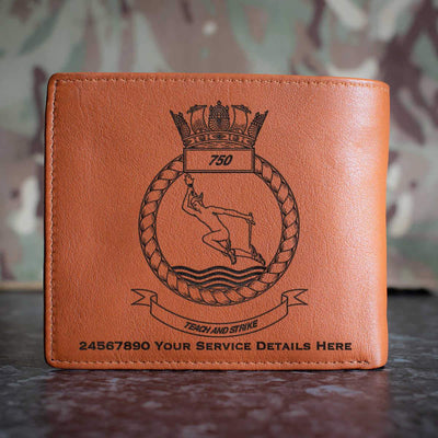 750 Naval Air Squadron Leather Wallet