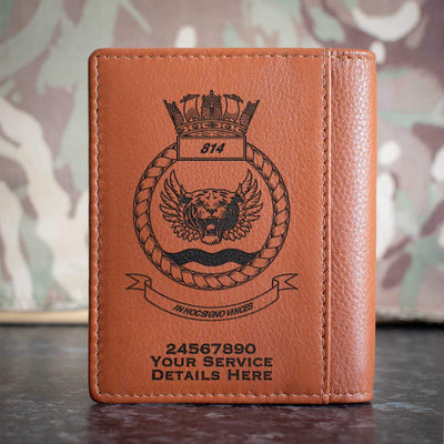 814 Naval Air Squadron Credit Card Wallet