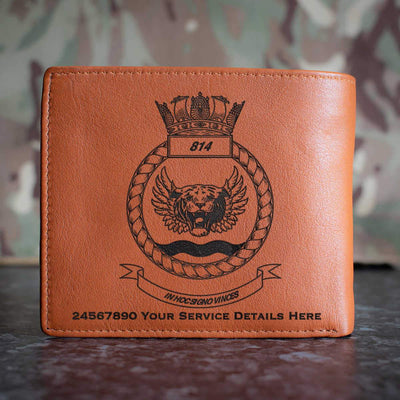 814 Naval Air Squadron Leather Wallet