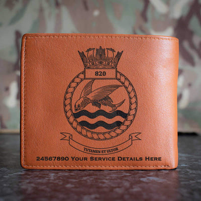 820 Naval Air Squadron Leather Wallet