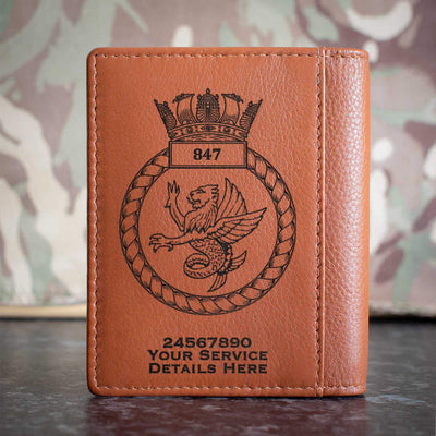 847 Naval Air Squadron Credit Card Wallet