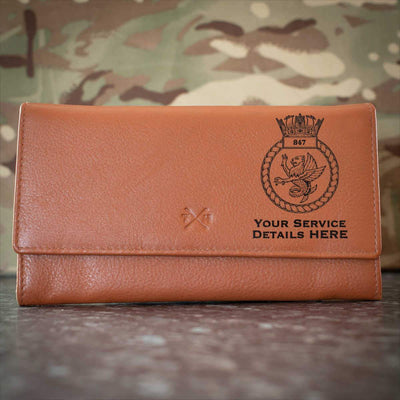 847 Naval Air Squadron Leather Purse
