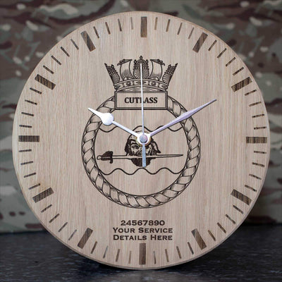 Cutlass Oak Clock