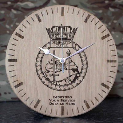 Dumbarton Castle Oak Clock
