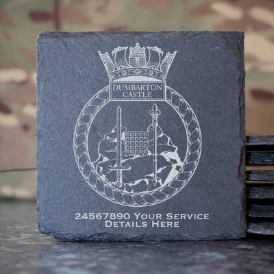Dumbarton Castle Slate Coaster