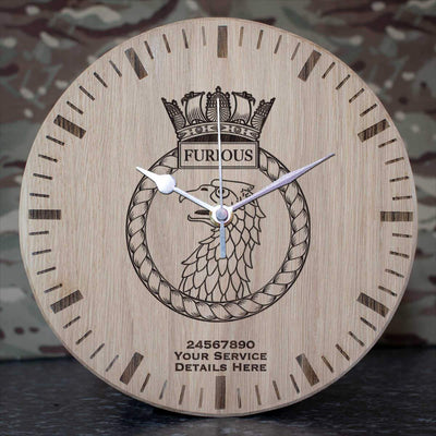 Furious Oak Clock