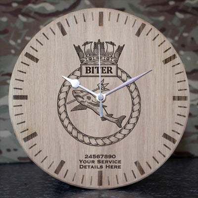 Biter Oak Clock