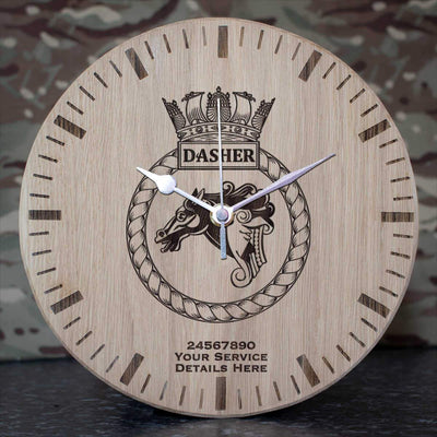 Dasher Oak Clock