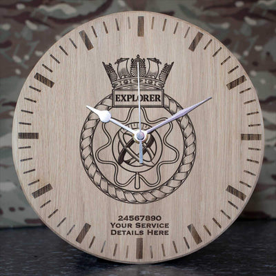 Explorer Oak Clock